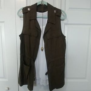 Sanctuary Olive Green Utility Vest